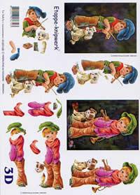 3D Bogen Strassenmusikanten - Format A4