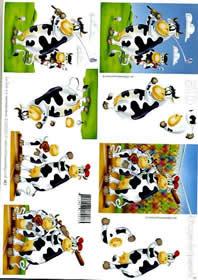 3D Bogen Kuh 2 - Format A4