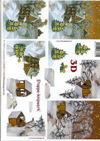 3D Bogen Schneelandschaft - Format A4
