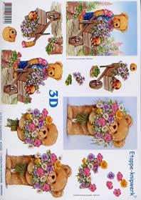 3D Bogen Bär im Garten - Format A4