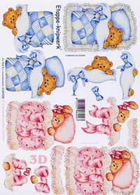 3D Bogen Baby - Bär - Format A4