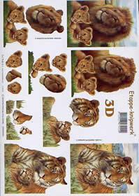 3D Bogen - Tiger + L淥 Format A4