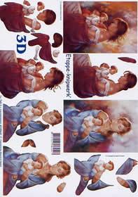 3D Bogen Murmeln Sie + Kind - Format A4