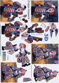 3D Bogen Clown - Format A4