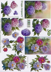 3D Bogen Blumen - Format A4
