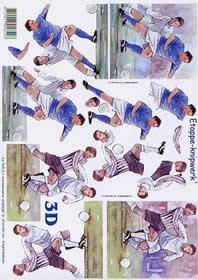 3D Bogen Fußballspieler - Format A4