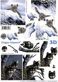 3D Bogen Tiger + W?lfe - Format A4