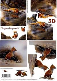 3D Bogen Füchse - Format A4