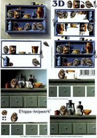 3D Bogen Vögel+Küchenschrank - Format A4