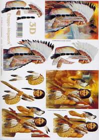 3D Bogen - Indianer Format A4