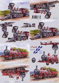 3D Bogen Dampflok - Format A4