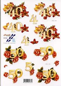 3D Bogen Jubiläum 40 + 50 - Format A4