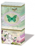 Taschentücher Butterfly Medaillon