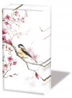 Taschentücher Bird & Blossom White