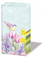 Taschentücher - Blühender Garten Türkis