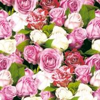 Servietten 25x25 cm - Roses All Over