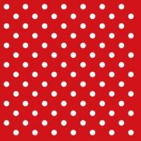 Servietten 25x25 cm - Dots Red