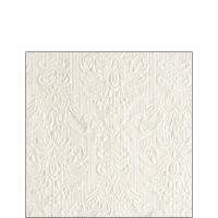 Servietten 25x25 cm - Elegance Pearl White