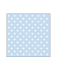Servietten 25x25 cm - Pastel Dots Blue
