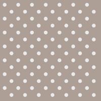 Servietten 25x25 cm - Dots Taupe