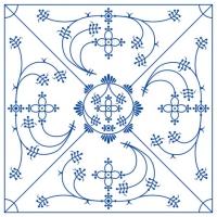 Servietten 25x25 cm - Indisch Blau