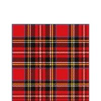 Servietten 25x25 cm - Scottish Red