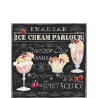Cocktail Servietten Ice Cream Black