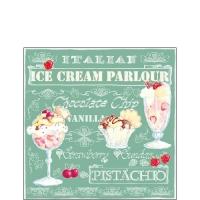 Cocktail Servietten Ice Cream Green