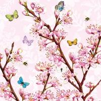 Servietten 25x25 cm - Blütenrose
