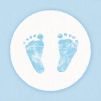 Servietten 25x25 cm - Baby Steps Boy