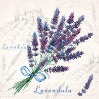 Servietten 25x25 cm - Lavendel