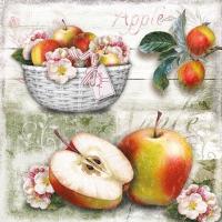Servietten 25x25 cm - Apple Basket