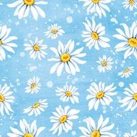 Servietten 25x25 cm - Daisies Blue