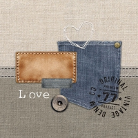 Servietten 25x25 cm - Original Denim