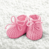 Cocktail Servietten Baby Girl Booties