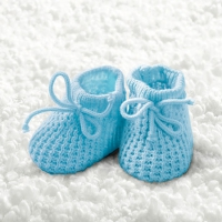 Cocktail Servietten Baby Boy Booties