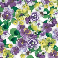 Cocktail Servietten Pansy All Over Purple