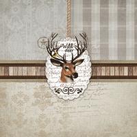 Servietten 25x25 cm - Wild Deer