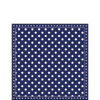 Servietten 25x25 cm - Stripes Dots Blue