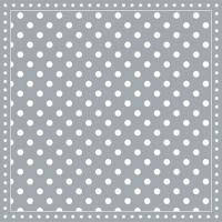 Servietten 25x25 cm - Stripes Dots Grey