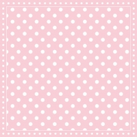 Servietten 25x25 cm - Stripes Dots Pink