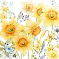 Servietten 25x25 cm - Classic Daffodils