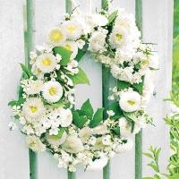 Servietten 25x25 cm - Wreath of Bellies White