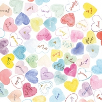 Servietten 25x25 cm - Sweet Hearts