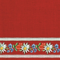 Servietten 25x25 cm - Bavarian Flowers Red