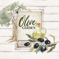 Servietten 25x25 cm - Olive Garden