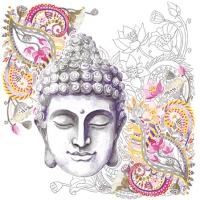 Servietten 25x25 cm - Buddha Head Stone