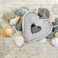 Servietten 25x25 cm - Hearts And Stones