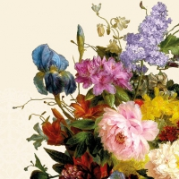 Servietten 25x25 cm - Still Life Bouquet Cream
