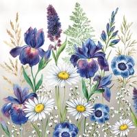 Servietten 25x25 cm - Mixed Meadow Flowers